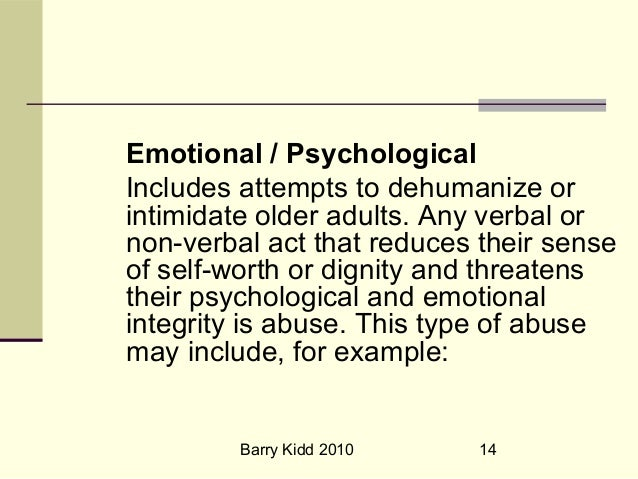 example of psychological abuse