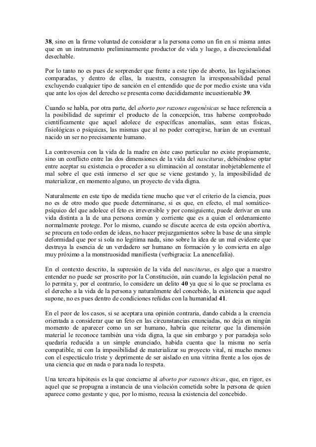 El Derecho A La Vida Y La Interrupción Voluntaria Del