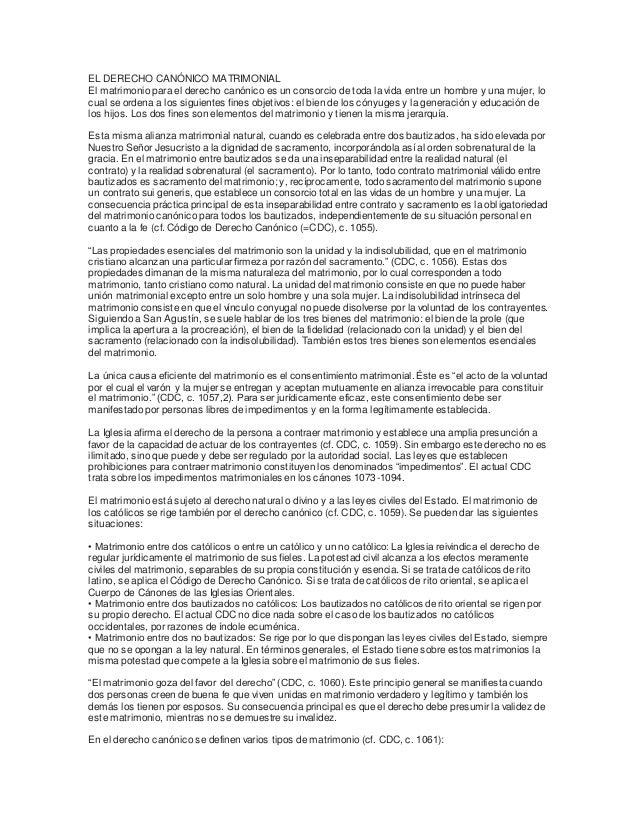 Matrimonio Catolico Derecho Canonico : El derecho canónico matrimonial