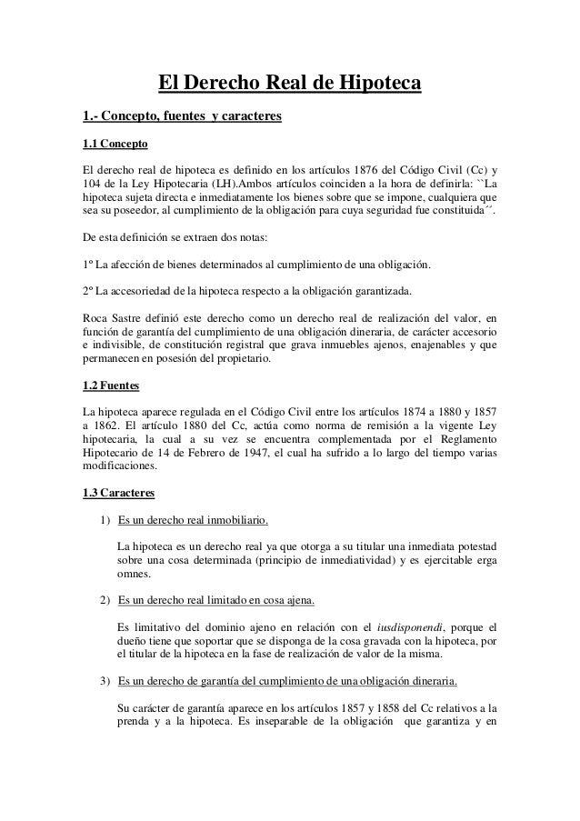 Derecho civil iii el derecho real de hipoteca for Hipoteca oficina directa
