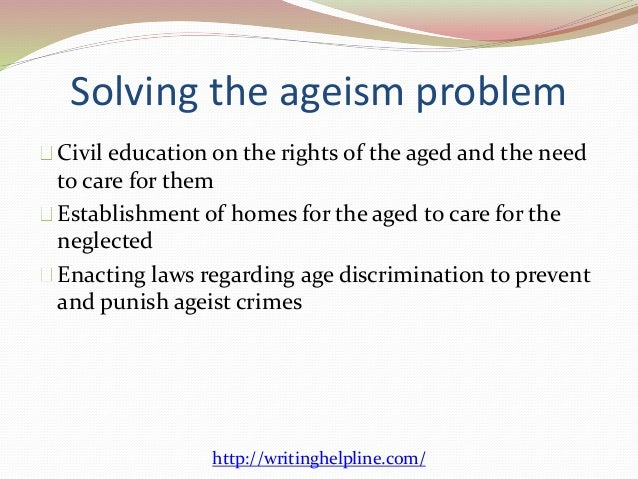 ageism the aged and the elderly While in general the phrase the elderly should be avoided, use of the elderly may be appropriate (as in the impact of medicare cuts on the elderly, for example).