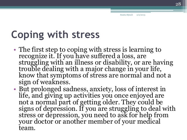 thesis statement on coping with stress