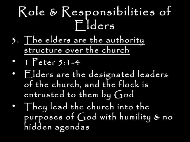 elder and deacon role purpose and