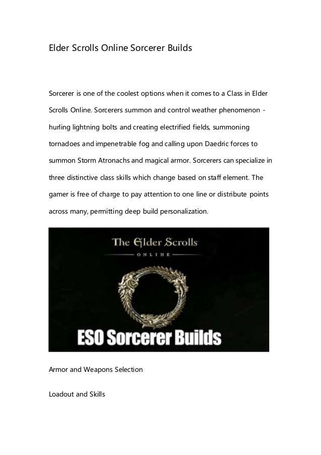 Elder Scrolls Online Sorcerer Builds