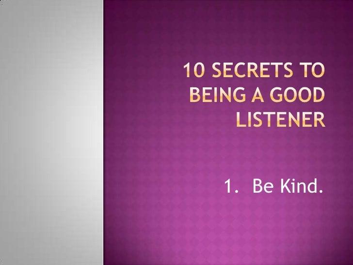 Being good listener essay