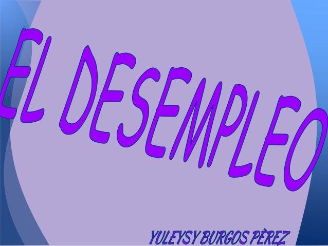 *DEFINICIÓN DE DESEMPLEO*