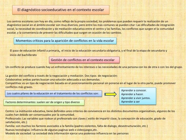 El diagnóstico socioeducativo en el contexto escolar