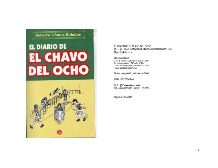 ELDIARIODEELCHAVODELOCHOD.R.@Textoeilustraciones:RobertoGómezBolaños,1995GpuntodelecturaDeestaedici...