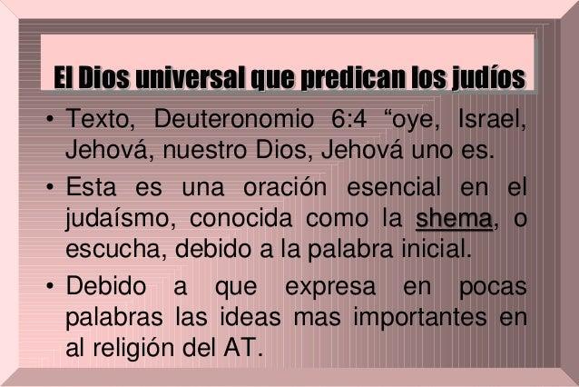 El dios universal que predican los judíos