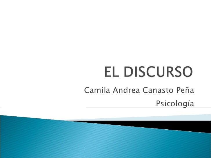 Camila Andrea Canasto Peña Psicología