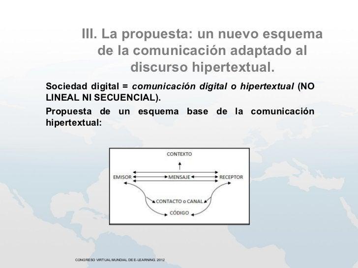 III. La propuesta: un nuevo esquema             de la comunicación adaptado al                  discurso hipertextual.Soci...