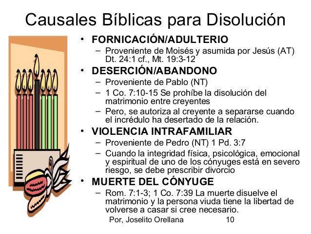 El Matrimonio Segun Biblia : El divorcio