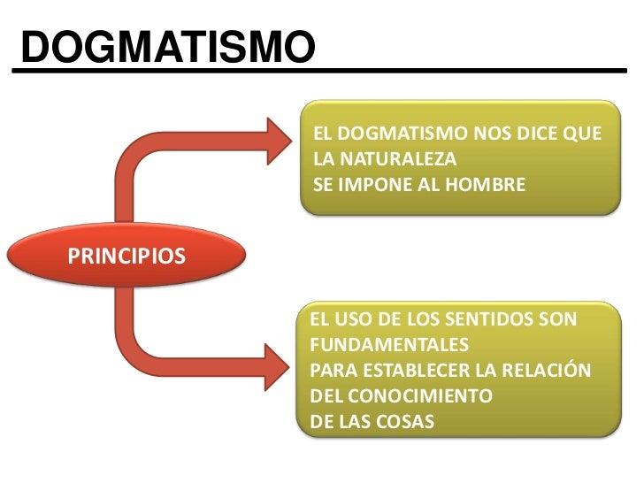 DOGMATISMO<br />EL DOGMATISMO NOS DICE QUE LA NATURALEZA <br />SE IMPONE AL HOMBRE<br />PRINCIPIOS<br />EL USO DE LOS SENT...