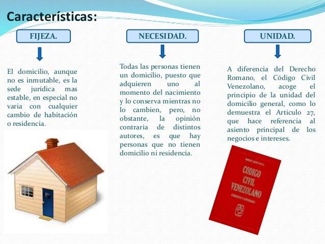 Diferencias Entre Matrimonio Romano Y El Venezolano : El domicilio