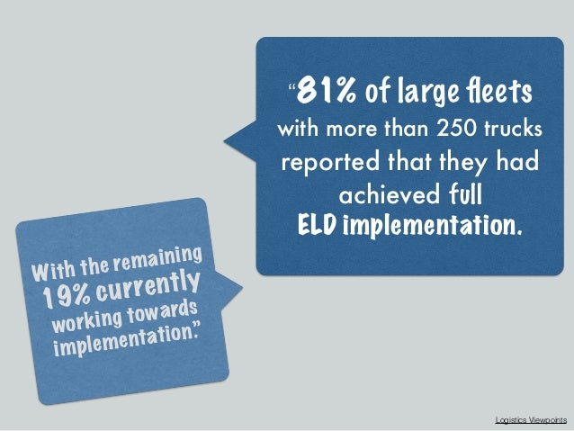 What Impact Will the ELD Rule Have on My Business? Slide 3