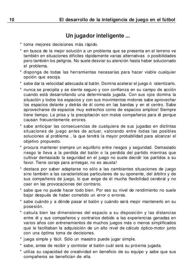"""11El desarrollo de la inteligencia de juego en el fútbolREGLAMENTO DEL """"MINI FÚTBOL"""" (SIN PORTERO)A: INFORMACIÓN GENERALMi..."""