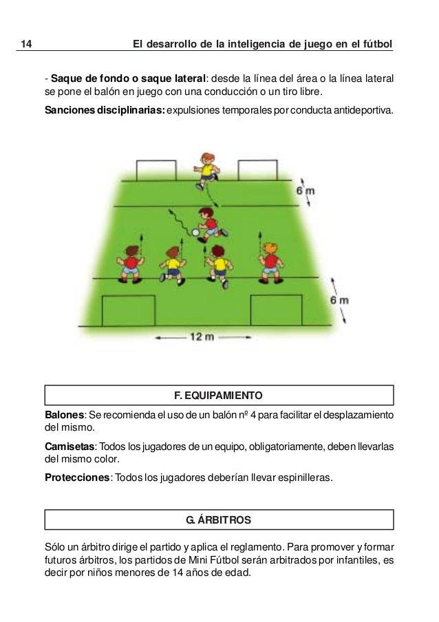 15El desarrollo de la inteligencia de juego en el fútbolJUEGOS PREPARATORIOS Ó CORRECTIVOSPARA EL MINI FÚTBOL PARA DESARRO...