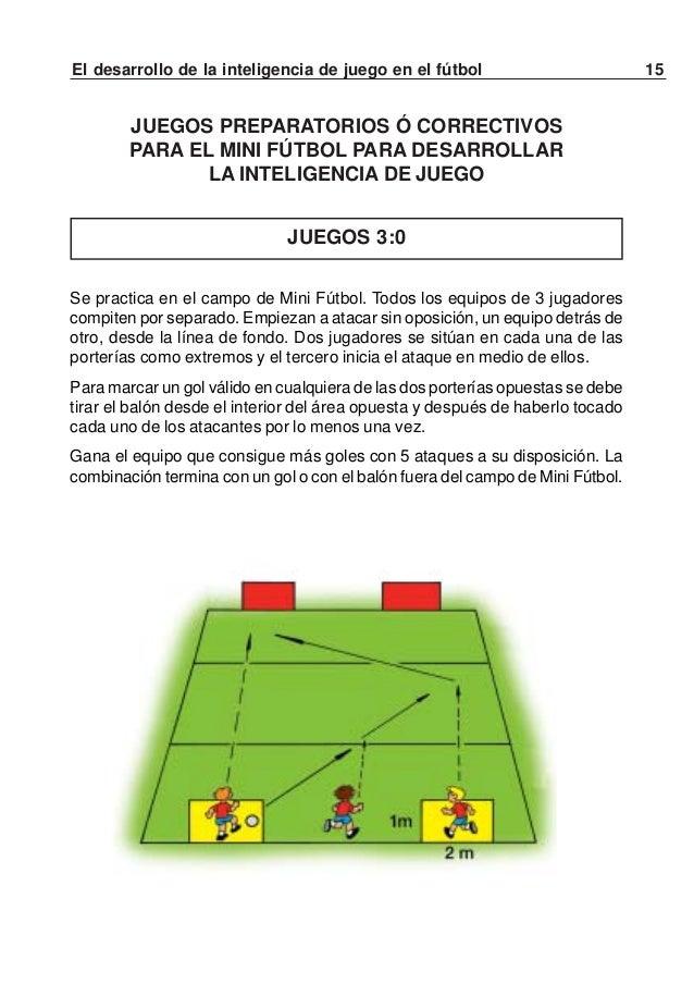 16 El desarrollo de la inteligencia de juego en el fútbolVARIANTE 3 con cambio de posicionesPara que un gol sea válido, lo...