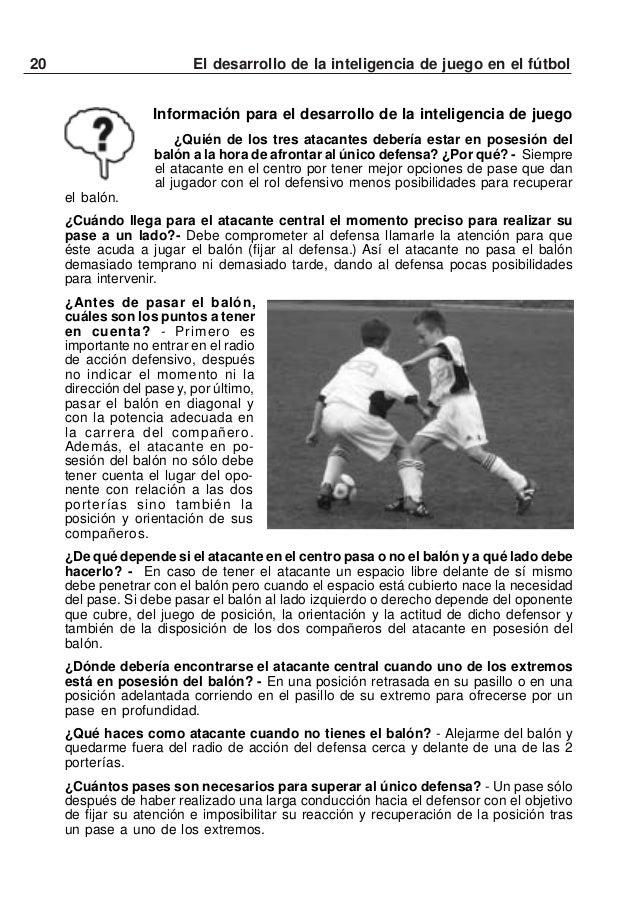 21El desarrollo de la inteligencia de juego en el fútbolVARIANTE 2 con tres equiposEl equipo que está en el centro del cam...