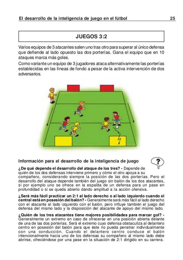 26 El desarrollo de la inteligencia de juego en el fútbolVARIANTE 2 con ataque rápidoDistintos equipos de 3 atacantes inic...