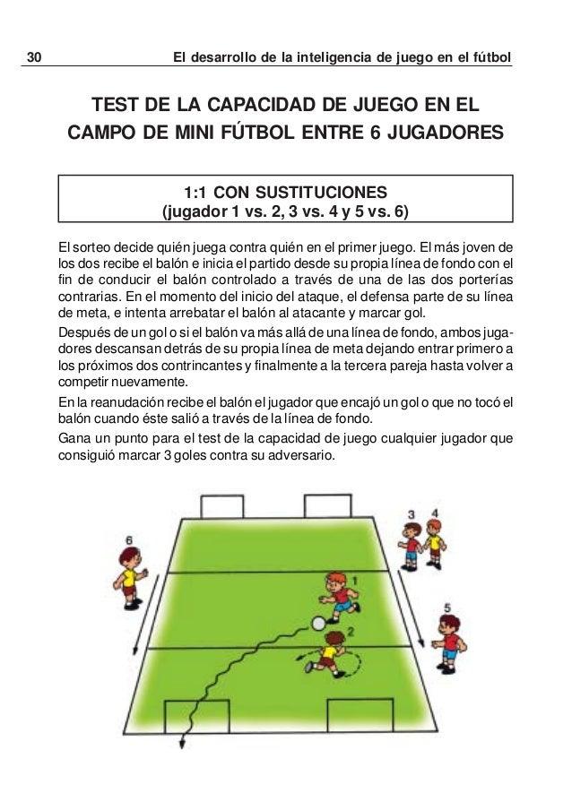 31El desarrollo de la inteligencia de juego en el fútbol2:2 CON SUSTITUCIONES (equipo 1-3-5 vs. 2-4—6)Dos jugadores de un ...
