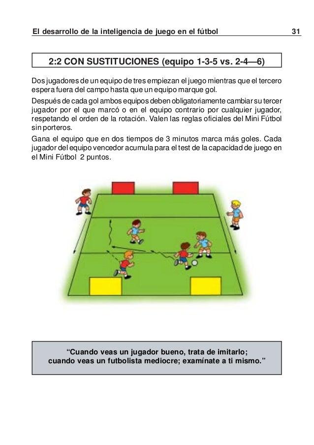 32 El desarrollo de la inteligencia de juego en el fútbolInterviniendo 18 jugadores, se organizan tres rondas finales: una...