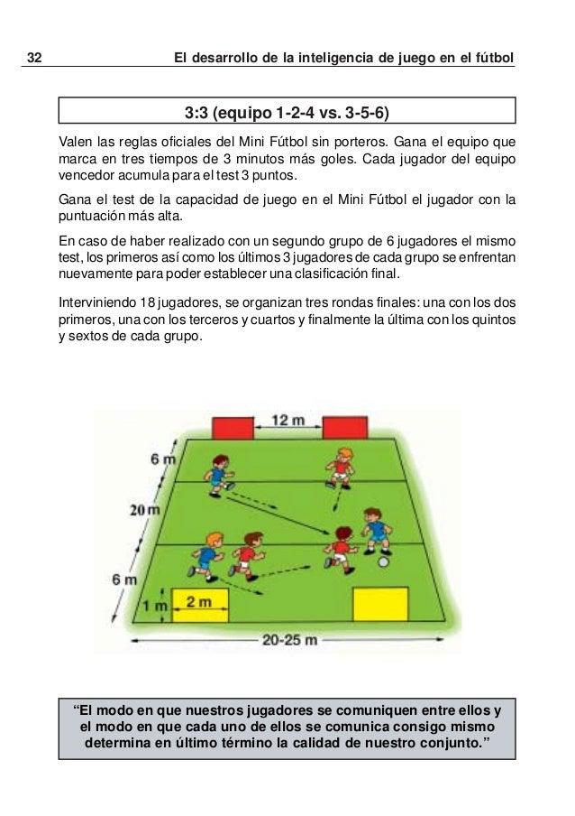 33El desarrollo de la inteligencia de juego en el fútbolPENTATLÓN DE MINI FÚTBOLLa necesidad de un desarrollo multilateral...