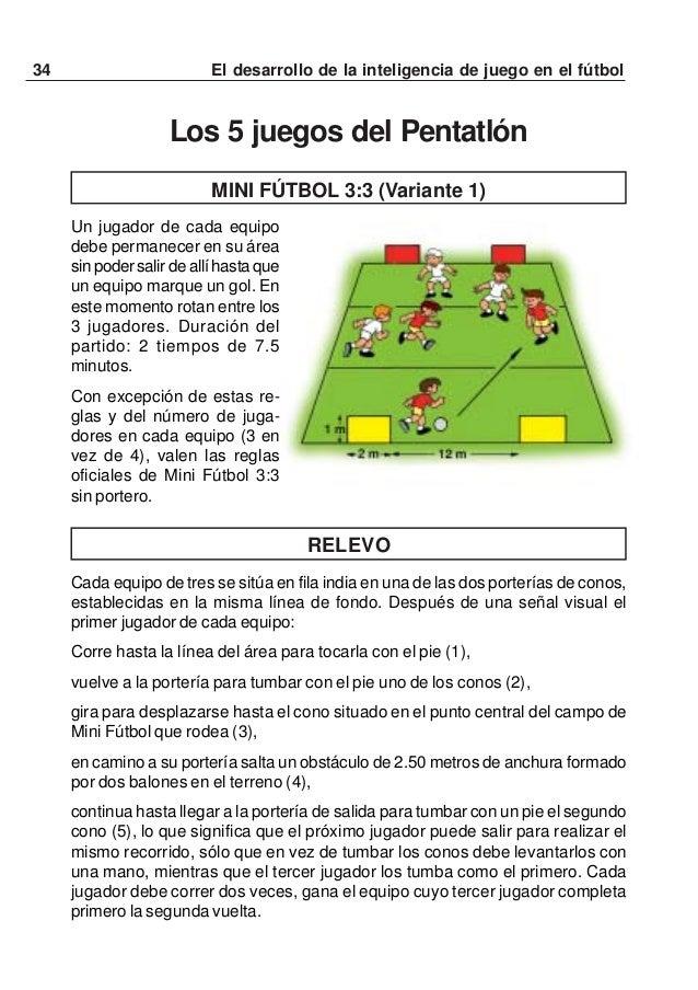 35El desarrollo de la inteligencia de juego en el fútbolMINI FÚTBOL 3:3 (Variante 2)Un jugador de cada equipo debe permane...