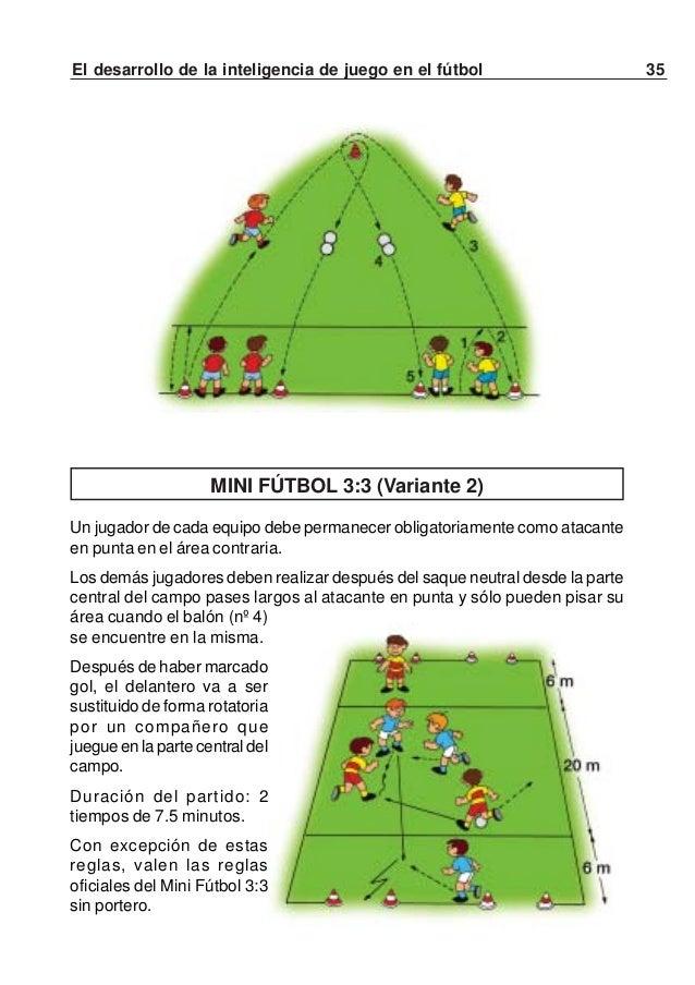 """36 El desarrollo de la inteligencia de juego en el fútbolATRAPAR A DOS """"LADRONES""""Un equipo (los policías) se encuentra en ..."""