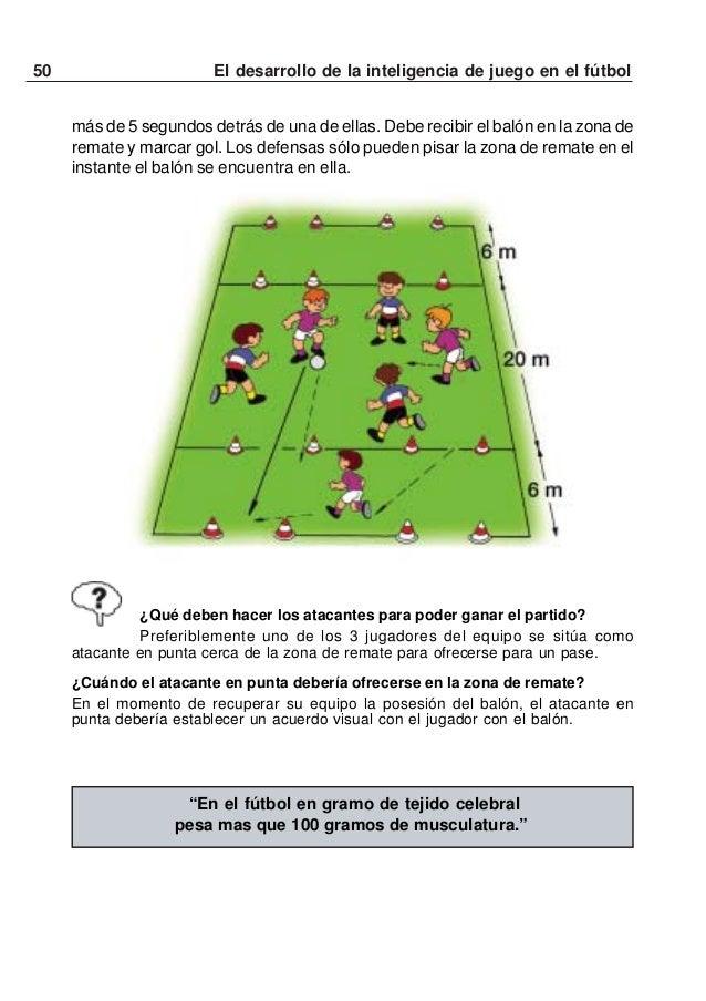51El desarrollo de la inteligencia de juego en el fútbolDEL MINI FÚTBOL AL FÚTBOL - 7Progresión de juegos simplificados pa...