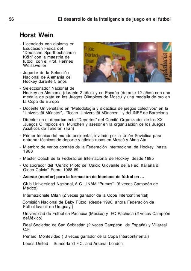 57El desarrollo de la inteligencia de juego en el fútbolClub Deportivo Social y Cultural Cruz Azul, A.C. (8 veces Campeón ...