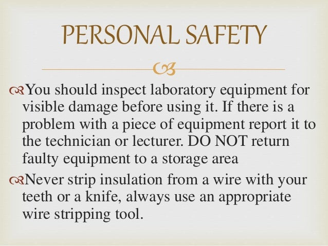 Electrician Lab Safety Rules For Iti
