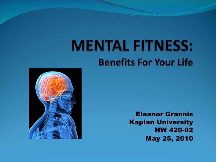 Eleanor Grannis Kaplan University HW 420-02 May 25, 2010