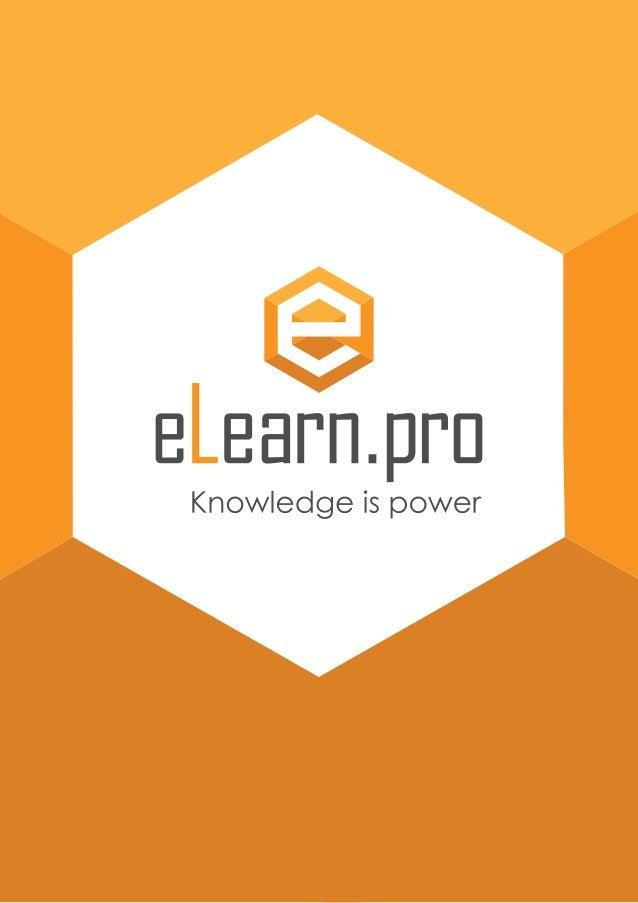 КАКВО Е ELEARN.PRO? Чрез електронните обучения имаме висока възвращаемост на инвестициите - до 7 пъти повече в сравнение с...