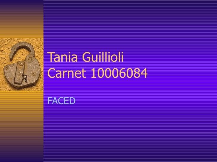 Tania Guillioli Carnet 10006084 FACED