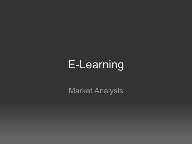 E-Learning Market Analysis