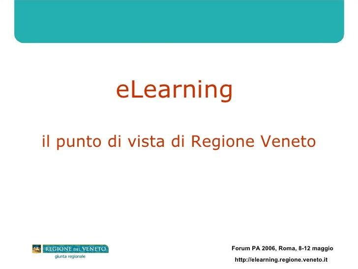 eLearning  il punto di vista di Regione Veneto