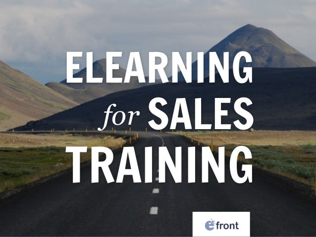 ELEARNING  SALES TRAINING for