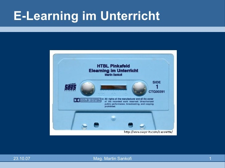 E-Learning im Unterricht