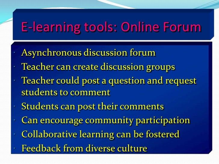Video/audio  streaming</li></li></ul><li>        Synchronous learning<br />Within synchronous learning; learning and teach...
