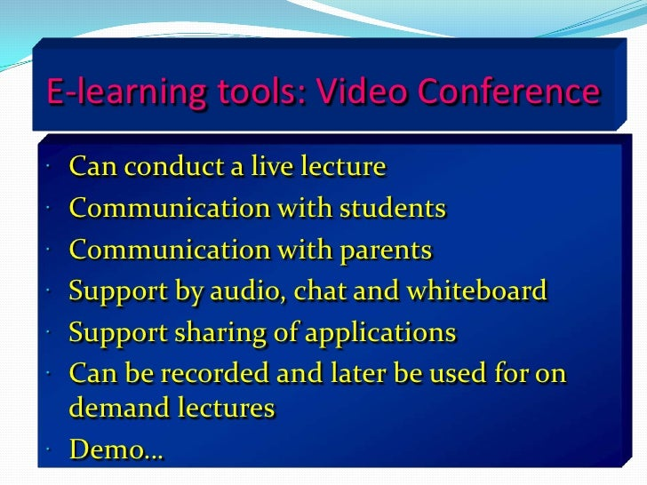 Examples of synchronous learning<br />