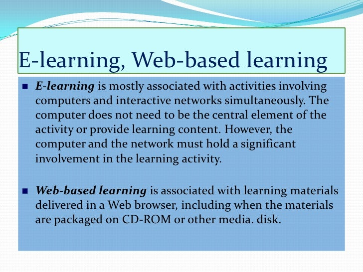traditional learning vs online learning essay A comparison of traditional, online and hybrid methods of course delivery online learning can be as effective as the traditional method of information delivery.