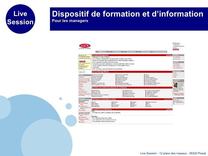 Dispositif de formation et d'information  Pour les managers