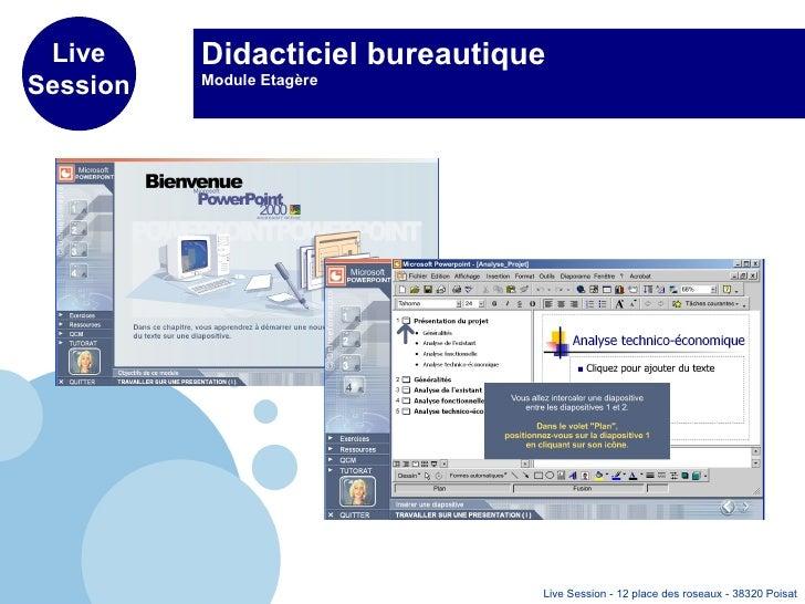 Didacticiel bureautique Module Etagère