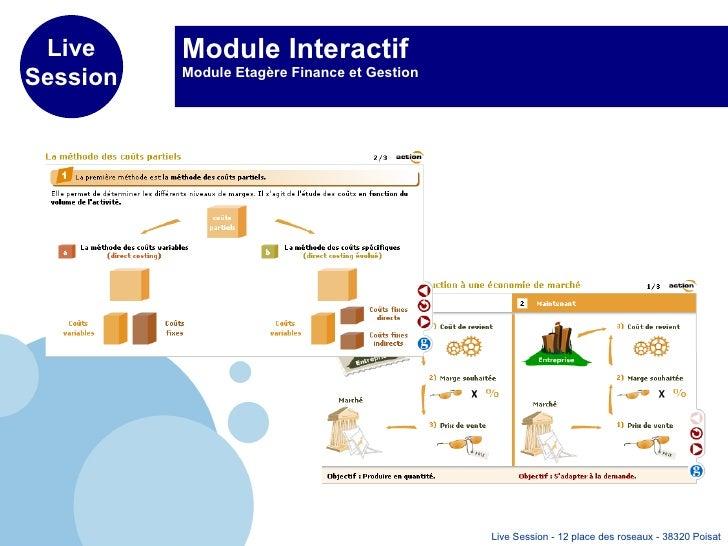 Module Interactif Module Etagère Finance et Gestion