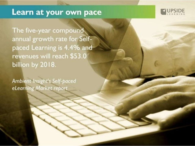 Learn at your own pace     The five-year compound. '  annual growth rate for Self-  9;,  'I paced Learning is 4.4% and  rev...