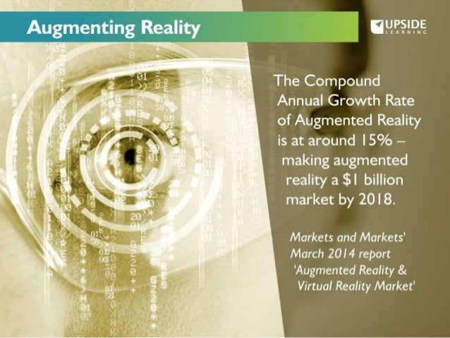 Augmenting Reatli   The Compound Annual Growth Rate of Augmented Reality is at around |5% —  making augmented  reality a $...