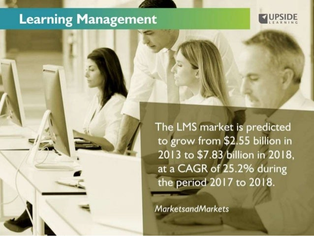 "Learning Management    .    I y The LMS market is predicted ~(/ —""-1=-—rr-. '   to grow from $2.55 billion in    _[   ""  2..."