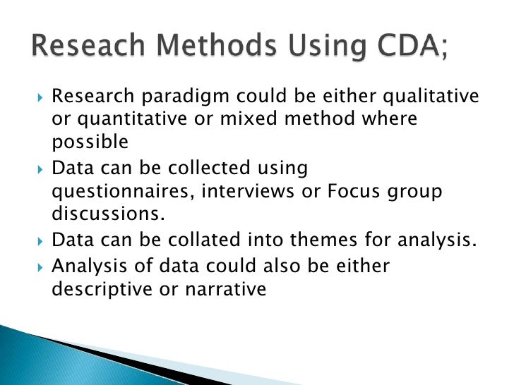 methods of discourse analysis pdf