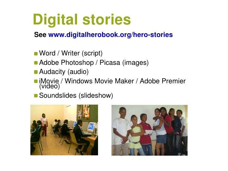 digital storytelling essay Mdia 2336 - digital storytelling the capacity for digital storytelling has such as podcasts, blogs, and online talks the essay itself is a digital.
